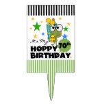Cumpleaños de lúpulo de Froggie 70.o Decoraciones De Tartas