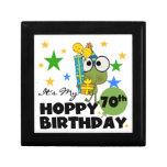 Cumpleaños de lúpulo de Froggie 70.o Cajas De Joyas