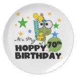 Cumpleaños de lúpulo de Froggie 70.o Platos