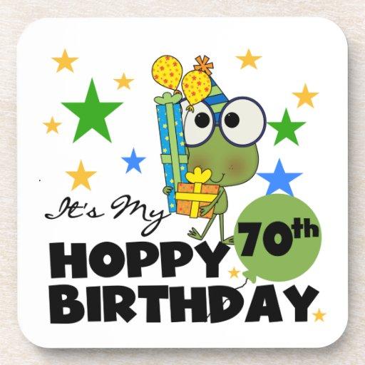 Cumpleaños de lúpulo de Froggie 70.o Posavasos De Bebidas