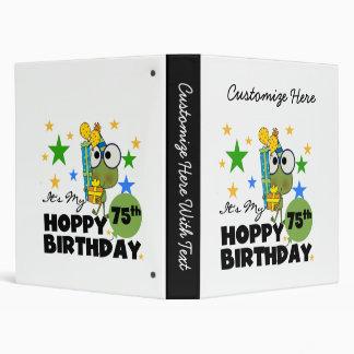 """Cumpleaños de lúpulo de Froggie 75.o Carpeta 1"""""""