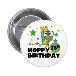 Cumpleaños de lúpulo de Froggie 75.o Pin
