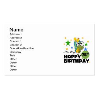 Cumpleaños de lúpulo de Froggie 75.o Tarjetas De Visita