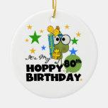 Cumpleaños de lúpulo de Froggie 80.o Adornos