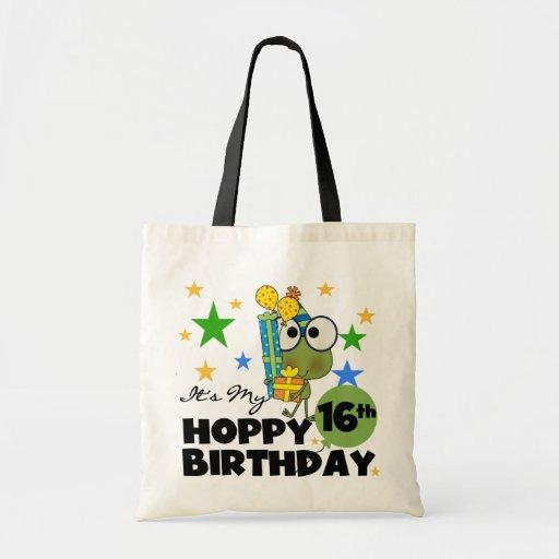 Cumpleaños de lúpulo de Froggie décimosexto Bolsas