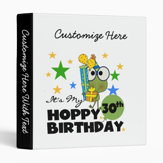 """Cumpleaños de lúpulo de Froggie trigésimo Carpeta 1"""""""