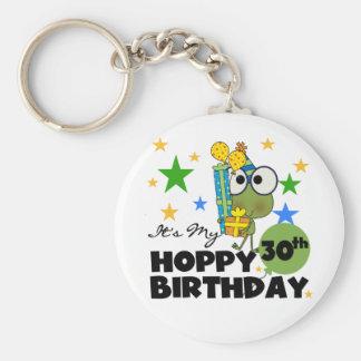 Cumpleaños de lúpulo de Froggie trigésimo Llaveros Personalizados