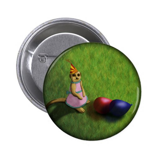 Cumpleaños de Meerkat, botón Pins