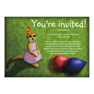 Cumpleaños de Meerkat, invitación