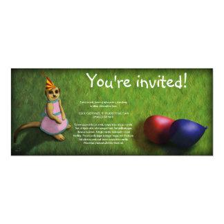 Cumpleaños de Meerkat, invitación flaca