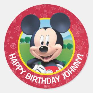 Cumpleaños de Mickey Mouse Pegatina Redonda