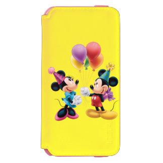 Cumpleaños de Mickey y de Minnie el   Funda Billetera Para iPhone 6 Watson