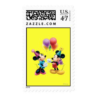 Cumpleaños de Mickey y de Minnie el | Timbre Postal