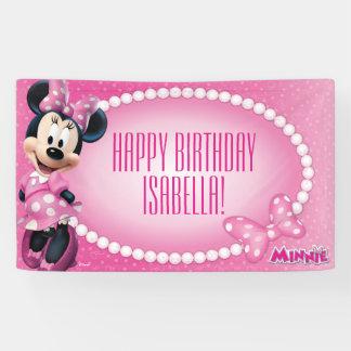 Cumpleaños de Minnie Mouse Lona