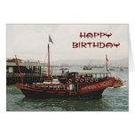Cumpleaños de oro de Hong Kong del transbordador d Felicitación