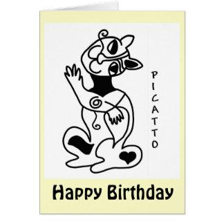Cumpleaños de PICATTO Tarjeta De Felicitación