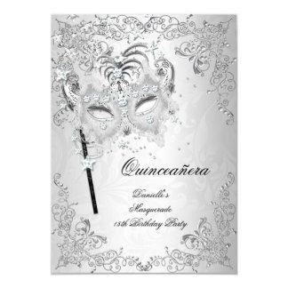 Cumpleaños de plata de Quinceanera de la mascarada