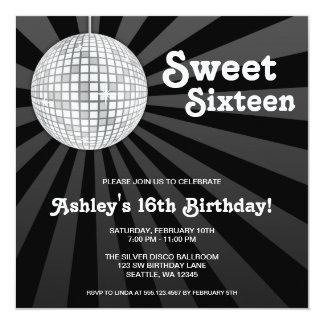 Cumpleaños de plata del dulce 16 de la bola de anuncios personalizados