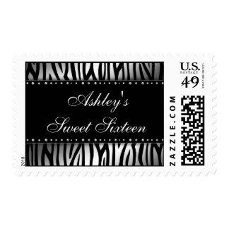 Cumpleaños de plata del dulce 16 de los diamantes sellos postales