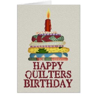 Cumpleaños de Quilters Tarjeta De Felicitación