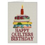 Cumpleaños de Quilters Tarjetón