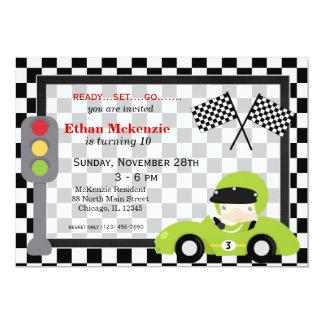 """Cumpleaños de Racecar Invitación 5"""" X 7"""""""