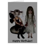Cumpleaños de Rosemary del lobo del duende de los  Tarjeta De Felicitación
