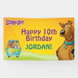 Cumpleaños de Scooby Doo Lona