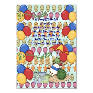 Cumpleaños de Shell del mar 2do Invitación 12,7 X 17,8 Cm
