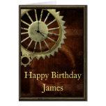 Cumpleaños de Steampunk del vintage Tarjeta De Felicitación