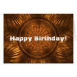 Cumpleaños de talla de madera felicitación