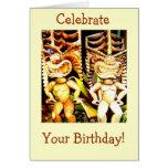 Cumpleaños de Tiki Tarjeta De Felicitación