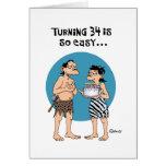 Cumpleaños de torneado 34 tarjeta