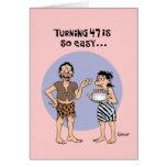 Cumpleaños de torneado 47 tarjeta de felicitación