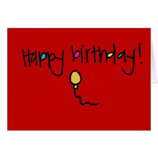 Cumpleaños de Wallies de la pizarra feliz Tarjeta Pequeña