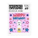 Cumpleaños de Westie Franqueo