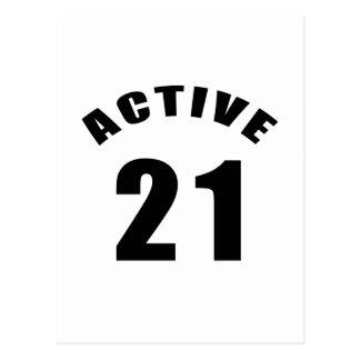 Cumpleaños del Active 21 Tarjetas Postales