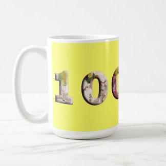Cumpleaños del aniversario de la taza de 100 jalon