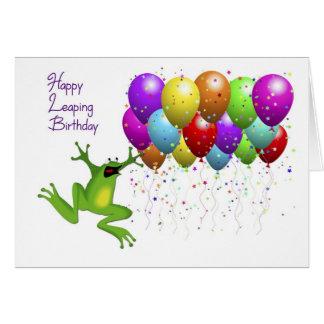 Cumpleaños del año bisiesto feliz tarjeta pequeña