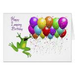 Cumpleaños del año bisiesto feliz tarjetas