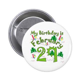 Cumpleaños del año bisiesto pins