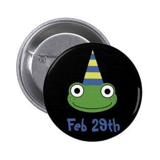 Cumpleaños del año bisiesto pin redondo de 2 pulgadas