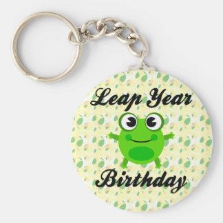 Cumpleaños del año bisiesto, rana linda llavero