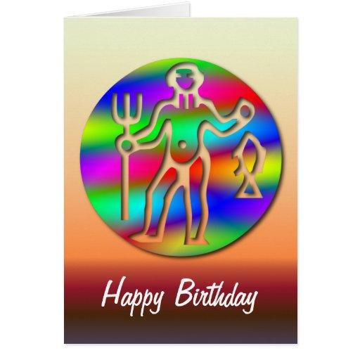 Cumpleaños del arco iris de la muestra de la estre felicitaciones