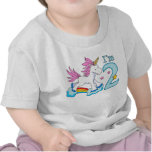 Cumpleaños del arco iris del unicornio 2do camiseta