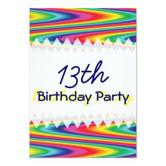 Cumpleaños del arco iris del zigzag comunicado personal