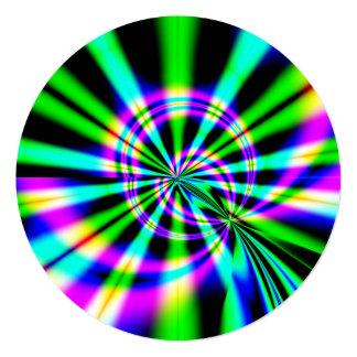 Cumpleaños del arte del fractal de la noria invitación 13,3 cm x 13,3cm