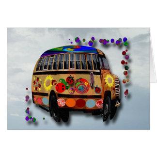 Cumpleaños del autobús de la mariquita tarjeta de felicitación