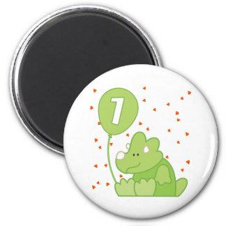 Cumpleaños del bebé de Dino 1r Imán