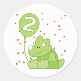 Cumpleaños del bebé de Dino 2do Etiquetas